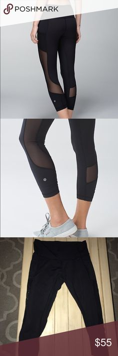 Lululemon Seek the Heat Crop Worn a few times, excellent condition // mesh along the back calf and up the thigh // has pockets on the sides // sweat wicking material, definitely luxtreme // love these leggings just too big for me now! lululemon athletica Pants Leggings