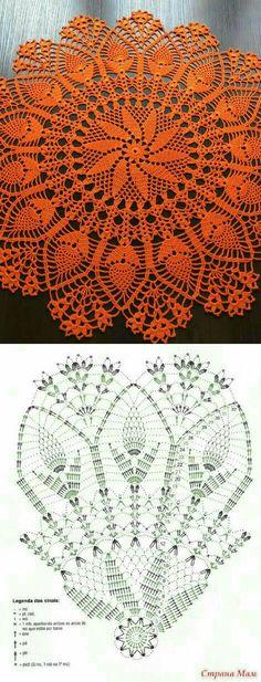 Crochet Mat, Crochet Doily Diagram, Crochet Dollies, Crochet Mandala, Filet Crochet, Crochet Crafts, Free Doily Patterns, Crochet Patterns, Crochet Bag Tutorials