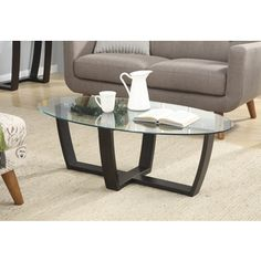 Shop for Convenience Concepts Newport Glass-top Coffee Table. Get free shipping at Overstock.com - Your Online Furniture Outlet Store! Get 5% in rewards with Club O!