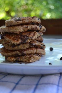 Oatmeal chocolate chip pancakes (Father's Day?)