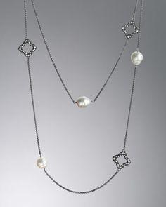 Quatrefoil Necklace, South Sea Pearls by David Yurman at Neiman Marcus.