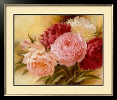 Needlework+Craft+%26+Gift+Home+decor+Heirloom+Quality+Counted+Cross+Stitch+Pattern+PDF+Pink+peonies+II