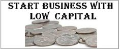 start a business with low capital