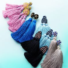 Coralie Reiter Jewelry / tassel statement earrings / coraliereiter.com