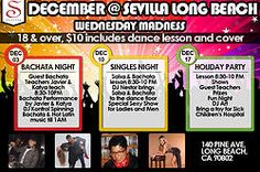 Single's Night at Sevilla Wednesday Dec 10th. Our Sexy Performers for our Sexy Single's Salsa Night WED DEC 10th @ Sevilla Long Beach-- Dancers Catalina and Eric!! https://www.facebook.com/events/397973297037576/