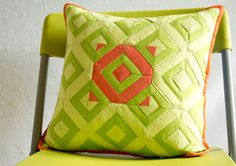 Check out my diamonds pillow tutorial at Sew Mama Sew!