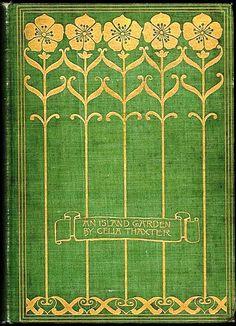 Design - Book Cover - Art Nouveau - An Island Garden