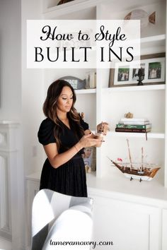My decorating tips and how I styled built ins in my home. Family Room Decorating, Decorating Tips, Decorating Your Home, Interior Decorating, Bookshelf Decorating, Interior Design, Home Decor Store, Cheap Home Decor, Diy Home Decor