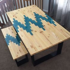 Awsome Gallery – Andrew Nelson Designs Valuable Tips For Memory Foam Mattress Pads Article Body: Mem Epoxy Wood Table, Epoxy Resin Table, Wooden Tables, Modern End Tables, Modern Dining Room Tables, Wood Projects, Woodworking Projects, Wood Table Design, Resin Furniture