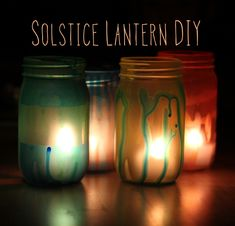 DIY Solstice Lanterns from Crafting Connections