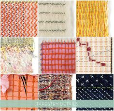 tapestries by Anette Blaesbjerg Orom // details