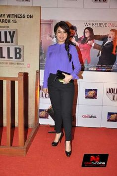Tisca Chopra at the premiere of Jolly LLB