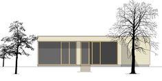 Altersgerecht - 2 House Plans, Garage Doors, Minimal, Layout, Outdoor Decor, Design, Home Decor, House, Homes
