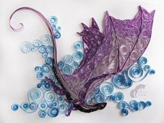 Paper quilled dragon.