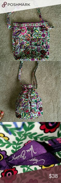 Viva LA Vera Retired Print Vera Bradley quick Draw Viva LA Vera quick Drawstring crossbody Vera Bradley Bags Crossbody Bags