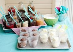 Are you planning some outdoor entertaining this summer? Try having a food bar, like an ice cream bar, popcorn bar, or even a pickled food bar. Click through for more ideas.