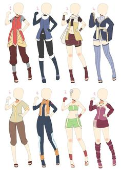 [Open] Naruto Outfit Batch 2 by AzaHana on DeviantArt