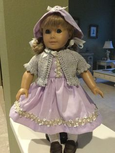 Dress, Sweater, Hat for American Girl Doll