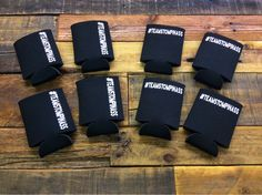 #Teamstompinass - One of the things we love about our shop is the ability to print as few as one of any item! Here's eight customized hashtag #koozies.