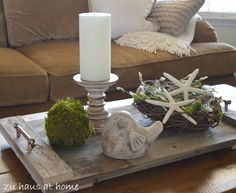 This vignette would make a charming addition to any patio table...