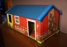Wolverine Litho Vintage Ranch Doll house by ArtnVintagebyDesign, $34.95