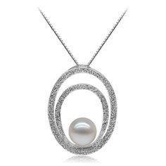 Lovely designer pearl penant with round white freshwater pearl on diamond cut sterling silver base. The pearl is perfectly round with perfect surface and fantastic nacre, with a gentle cream overtone.
