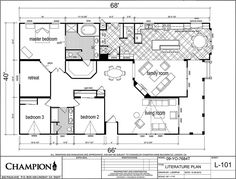 Homes Direct Modular Homes - Model YO-7684T - Floorplan