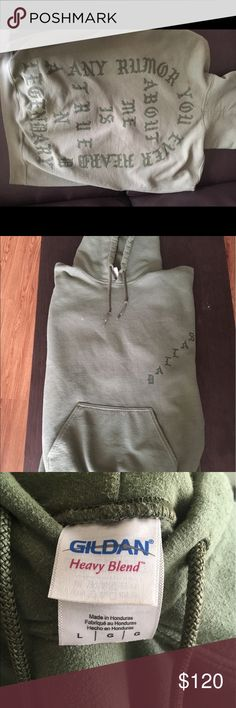 'Dallas' Yeezy Hoodie Authentic Yeezy Hoodie from Dallas Saint Pablo pop up store. Olive Green size Large. Yeezy Shirts Sweatshirts & Hoodies