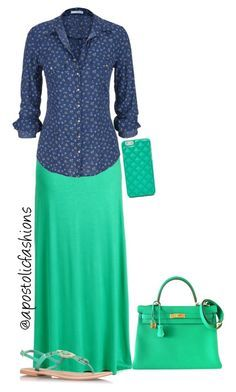 """Apostolic Fashions #832"" by apostolicfashions on Polyvore featuring maurices, Carvela Kurt Geiger, Hermès and FOSSIL"