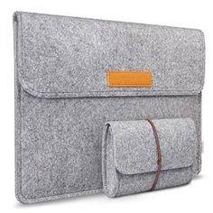 Laptop Sleeve//Carry Bag+Shoulder Strap+Bonus Adapter Bag-Synthetic Leather 13,14,15,15.6 inch,Apple MacBook Air Pro,Grey Black Pink Beige