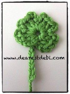 Crochet Four Leaf Clover - Free pattern by DearestDebi