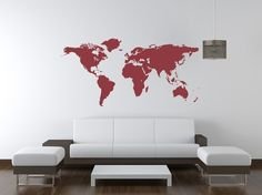Wall+Decal+World+Map+Geography+Travel+Vacation+by+WallStarGraphics,+$55.00