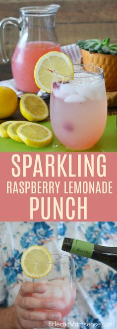 Celebrate National Prosecco Day with a Sparkling Raspberry Lemonade Punch. Fruity bubbly, & just a hint of sweetness; the perfect brunch addition this summer. Raspberry Lemonade Cupcakes, Strawberry Lemonade Punch, Pink Lemonade Vodka, Pink Lemonade Recipes, Raspberry Punch, Raspberry Cocktail, Sparkling Lemonade, Lemonade Cocktail, Sparkling Punch