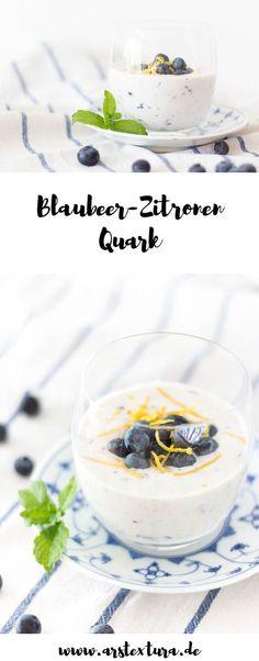Blaubeer Rezept: Heidelbeer-Zitronen Quark - leckerer Sommernachtisch