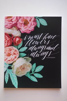 The Blooms Series flowers calligraphy photo by rebeccacaridad