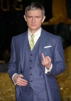 Pretty sure Martin is pissed cause Benedict is stealing his film.