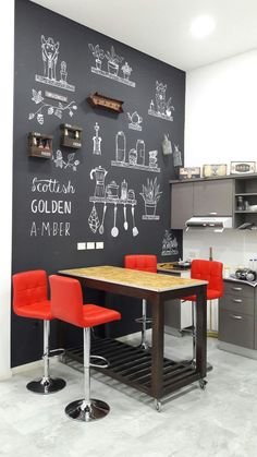 √ 35 Best Small Kitchen Table: Pictures, Ideas & Designs - T.- √ 35 Best Small Kitchen Table: Pictures, Ideas & Designs – Trumtin We have listed a few of the top ideas for adding small kitchen table to your space. Black Kitchen Cabinets, Black Kitchens, Small Kitchens, Classic Kitchen, New Kitchen, Slate Kitchen, Kitchen Modern, Dinner Table Design, Kitchen Interior