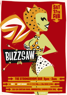 It's time to get trashy at Buzzsaw Joint. Expect Wild Punk, Surf, Stompin' Rockabilly and beats all on vinyl. 60s Rock, Rock N Roll, Rockabilly, Weird, Just For You, Illustration, Dj, February, Join