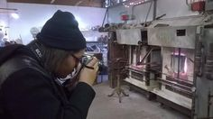 Excel #photography student, Cree getting a shot of the furnaces while on a photo shoot assignment at Michigan Hot Glass located inside the Russell Industrial Center. Thank you to artist Albert Young for hosting us! If you would like more information about the Excel Photography Program, please contact Annette Vanover at 313.494.4376 or vanovea@focushope.edu