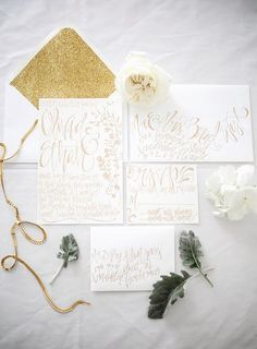 Wedding Ideas: Beautiful Calligraphy from Shannon Kirsten - wedding invitations; Shannon Kirsten