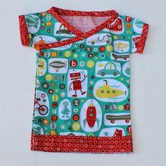 Free Sewing Pattern: Baby Kimono Top