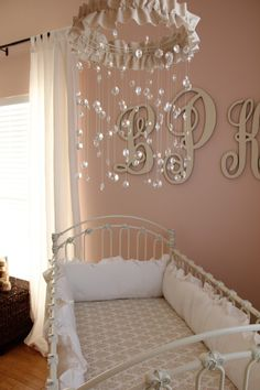 Obviously my daughter's nursery will have a crystal mobile.  It's like a mini chandelier.