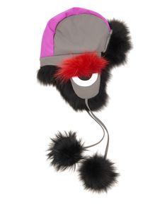 Fendi Bag Bugs Fox-Fur Lined Trapper Hat, $1,994; matchesfashion.com   - ELLE.com (=)