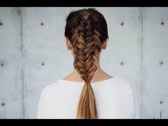 Twisted Edge Fishtail Braid - YouTube