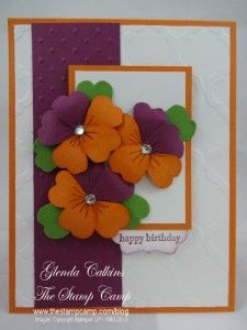 Stampin' Up! Pansy Punch | The Stamp Camp