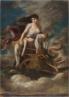 Medea - In Greek mythology, Medea is the daughter of King Aeëtes of Colchis, a niece of Circe and the granddaughter of the sun god Helios. Medea figures in the myth of Jason and the Argonauts, appearing in Hesiod's Theogony around 700 BC,but best known from Euripides's tragedy Medea and Apollonius of Rhodes' epic Argonautica. Medea is known in most stories as a sorceress and is often depicted as a priestess of the goddess Hecate. Medea Play, Going Insane, Paul Cezanne, Class Activities, Mythology, Children, Character, Painting, Image