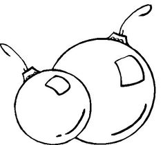 christmas ornaments coloring pages | Printable Christmas Coloring Page: Two Ornaments