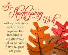 My Thanksgiving Wish For You.