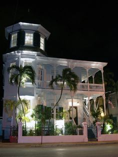 Artist House Key West, Fl. A beautiful, historic bed and breakfast. I actually stayed in the turret on top of the house.