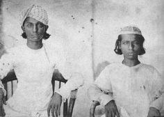 Sons of Last Mughal King Bahadur Shah Zafar - Mirza Jawan Bakht (Left) and Mirza Shah Abbas (Right) in 1860s.